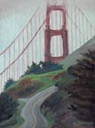 Golden Gate Tower in Fog Linda Sorensen Thumbnail